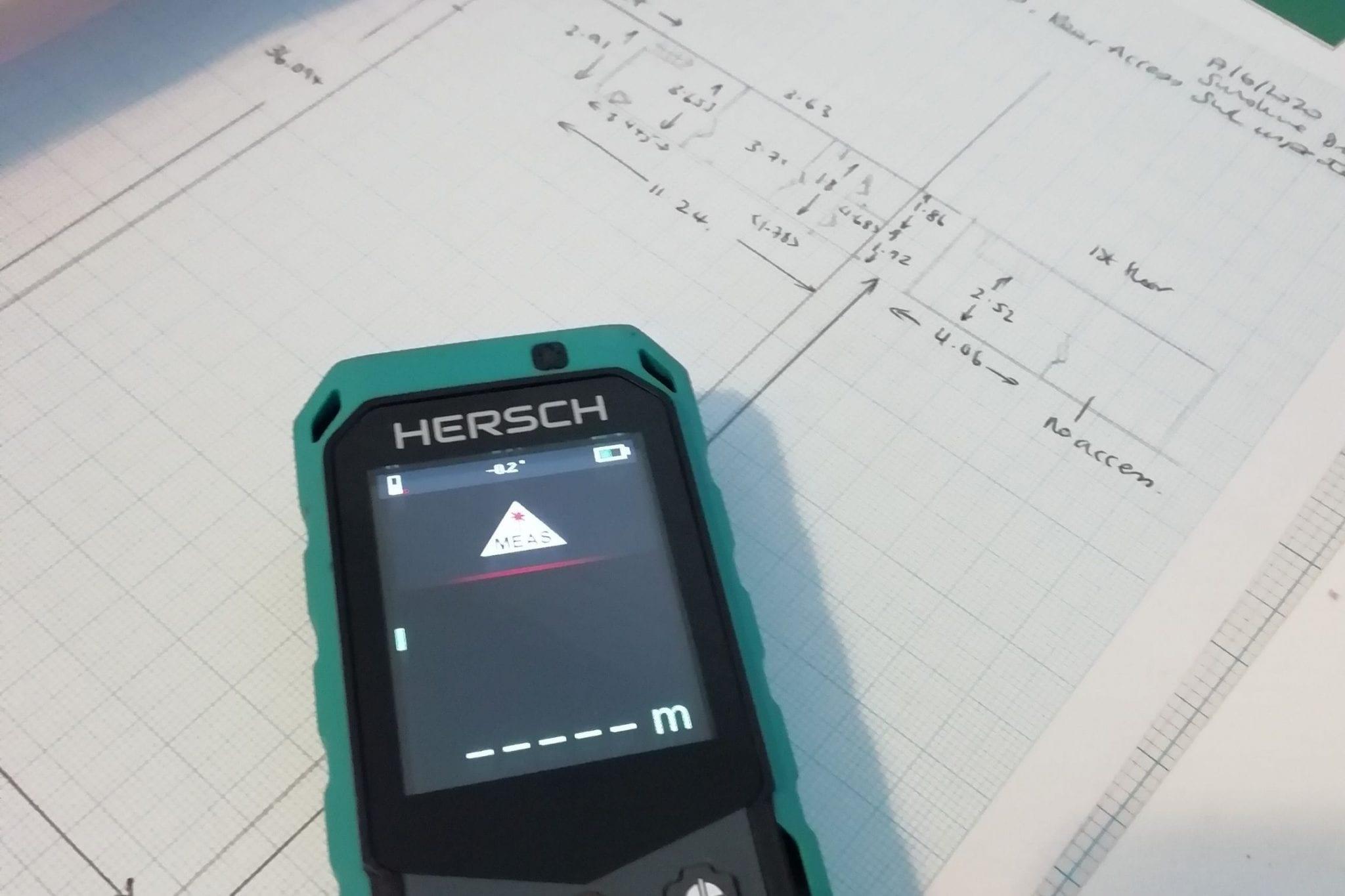 Laser Measurer RICS Chartered Surveyors tool