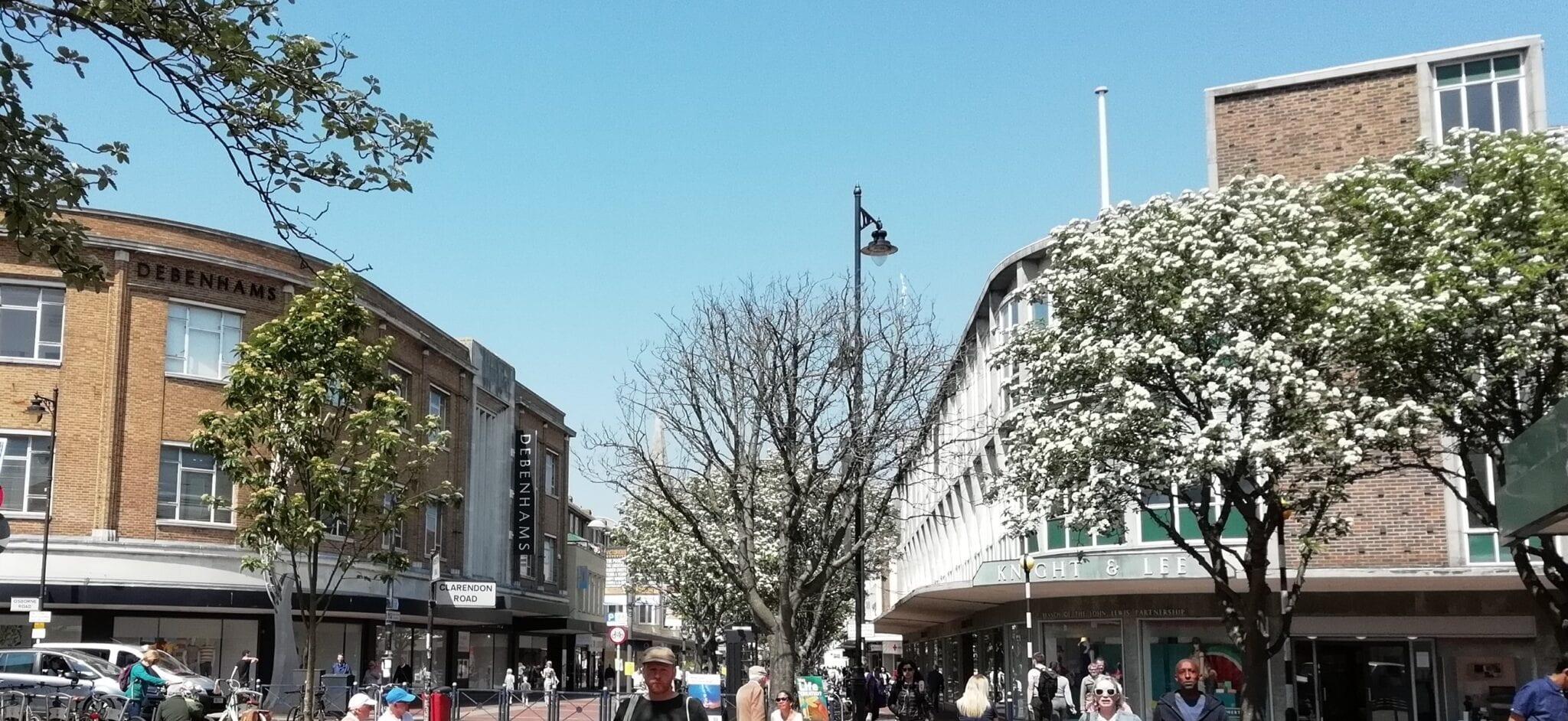 Retail commercial centre Southsea shops