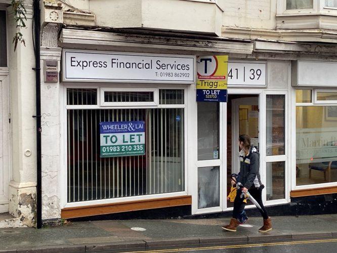 Shop front for website
